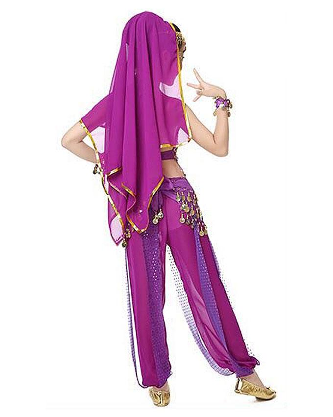 New Belly Dance Indian Girls Costume-Pink,Blue and Purple | Children's Clothing for sale in Ojota, Lagos State, Nigeria