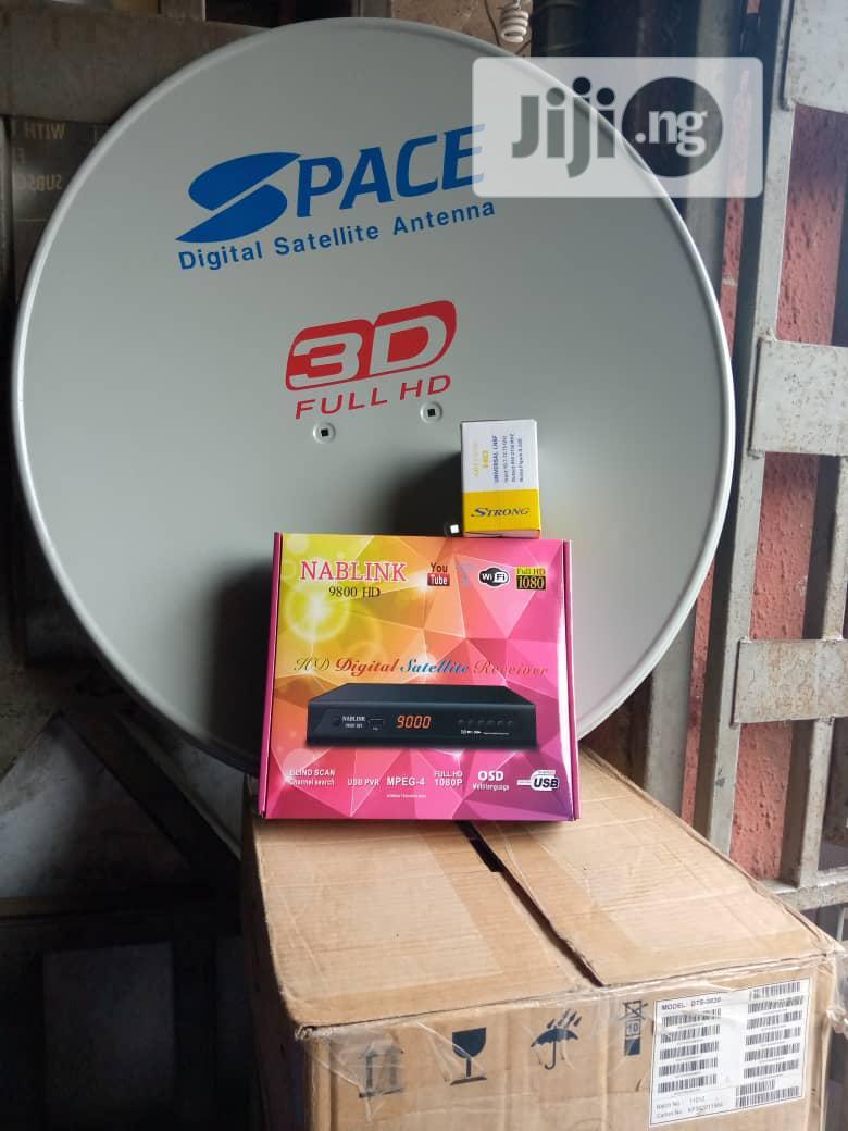Original Set Digital Satellite Antenna Dish Space 3D 4G