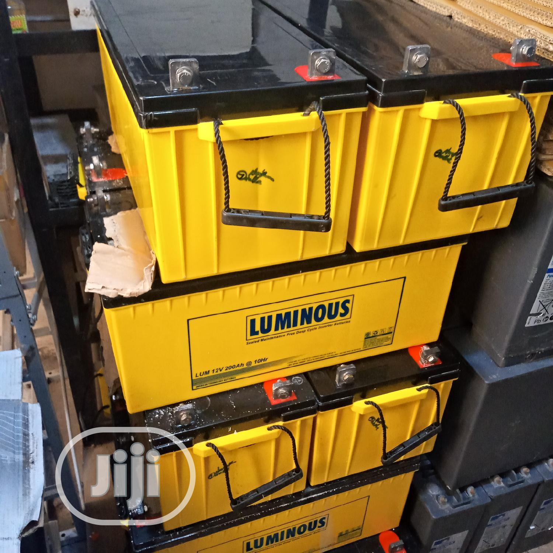 12V 200ah Luminous Deep Cycle Solar Batteries