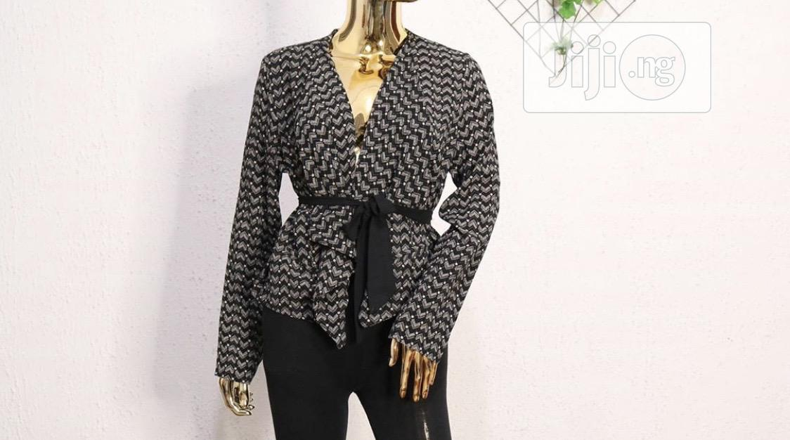 Striped Soft Blazer | Clothing for sale in Port-Harcourt, Rivers State, Nigeria