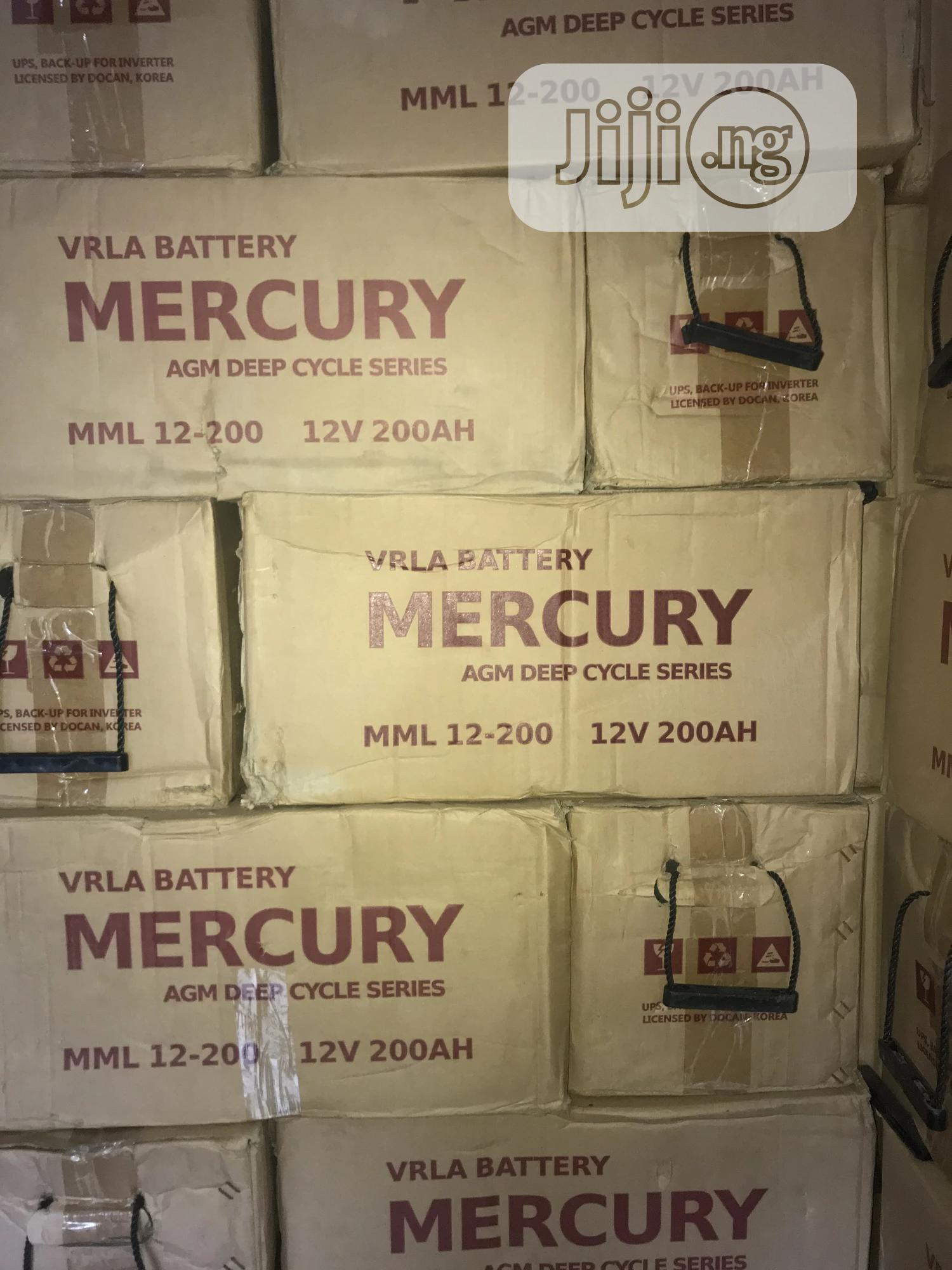 Archive: 12v 200ah Mercury Battery