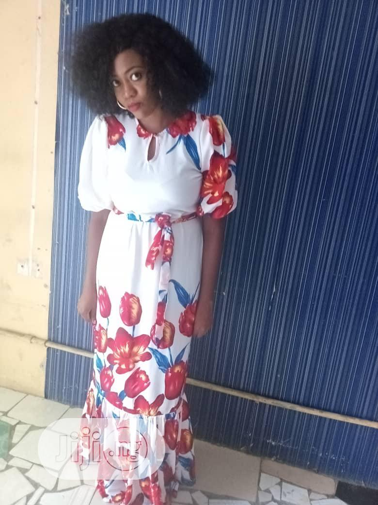 Floral Long Dress | Clothing for sale in Amuwo-Odofin, Lagos State, Nigeria