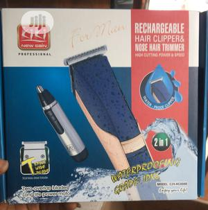 Rechargeable Hair Clipper With Nose Trimmer | Tools & Accessories for sale in Lagos State, Lagos Island (Eko)