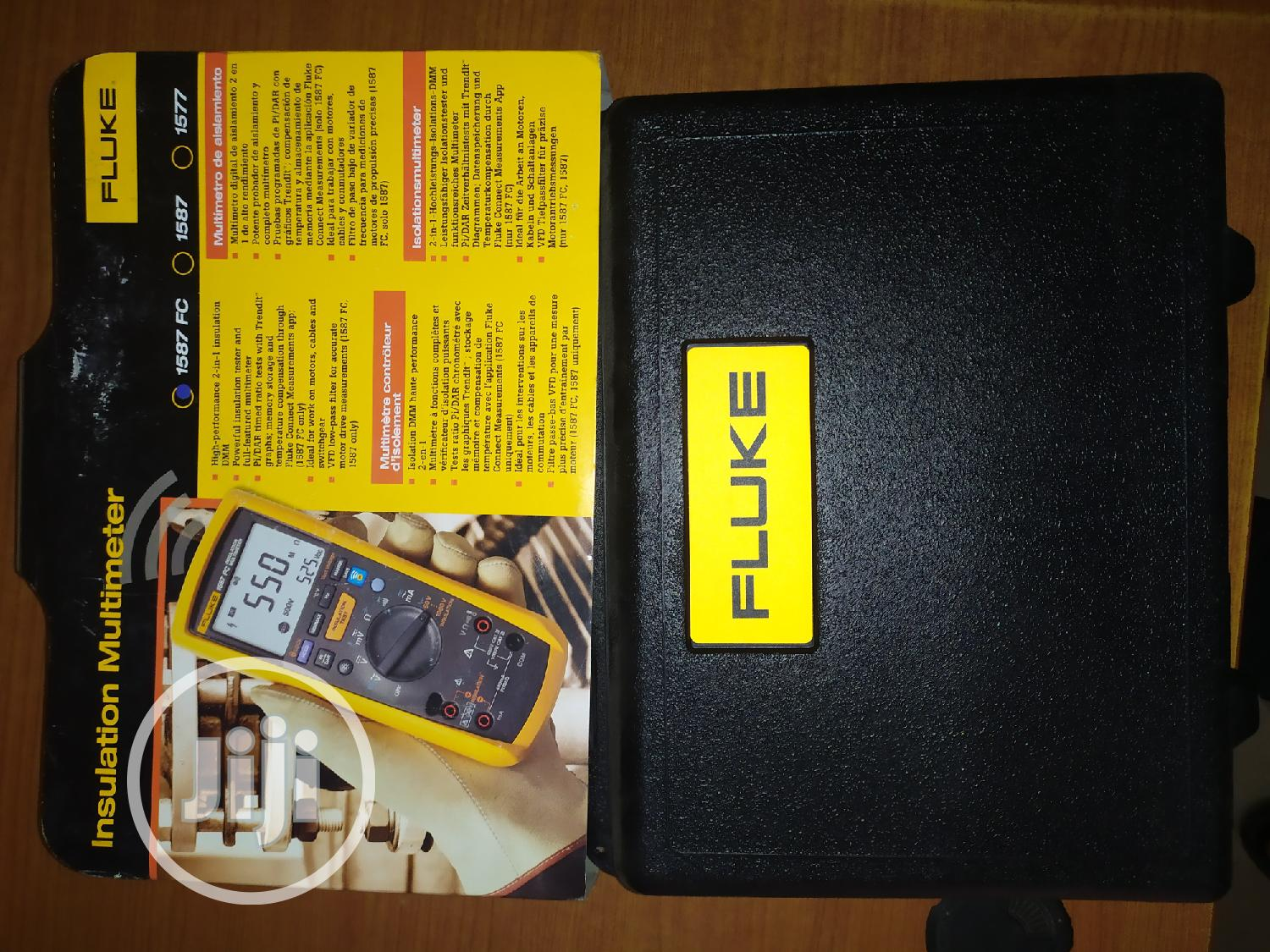 Fluke 1587 Insulation Resistance Tester | Measuring & Layout Tools for sale in Ojo, Lagos State, Nigeria