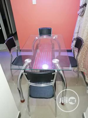 High Quality Glass Dinning Table With 4 Chairs. | Furniture for sale in Lagos State, Lekki