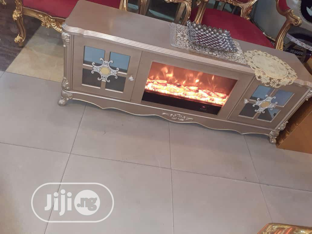 Imported TV Stand With Led Fire Work