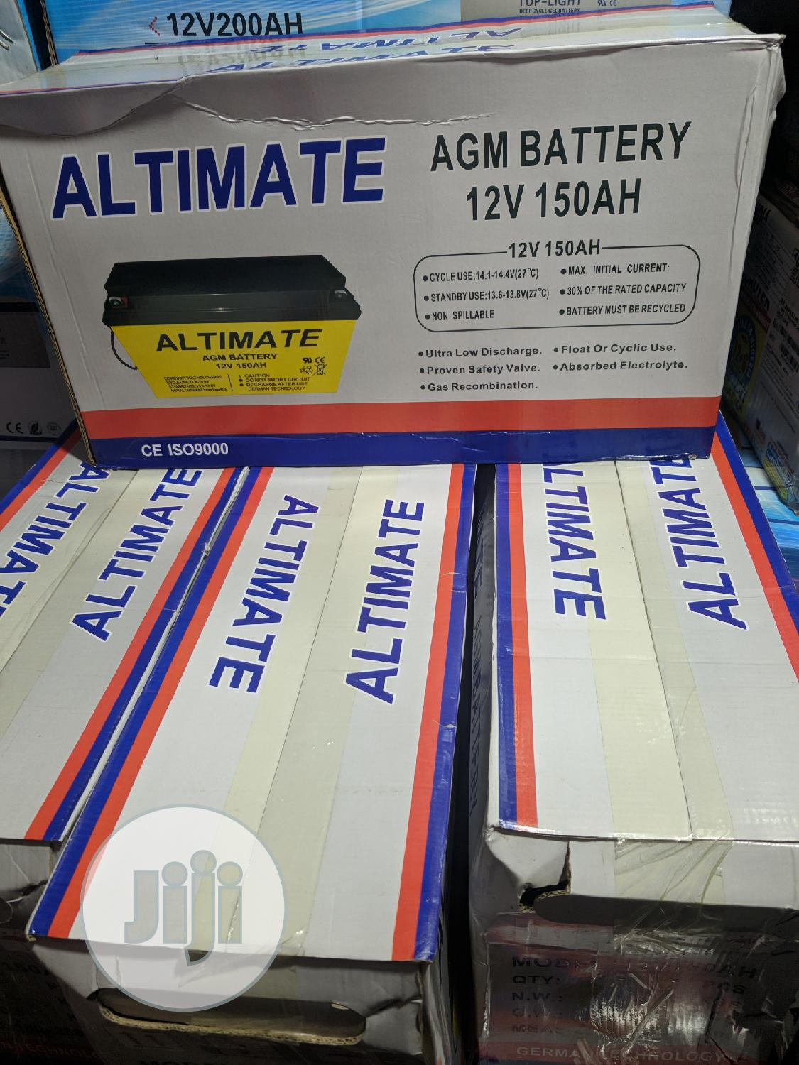 Archive: 150ah 12volts Altimate Solar AGM Battery