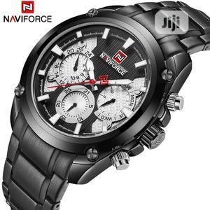 NAVIFORCE Men Luminous Calendar Waterproof Black Watch   Watches for sale in Lagos State, Victoria Island