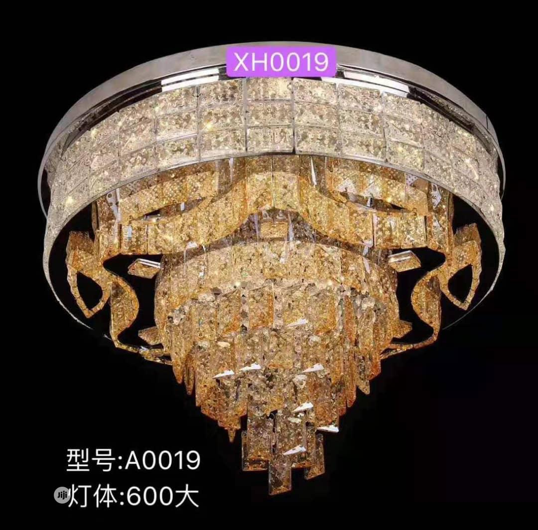 Crystal LED Chandelier With 3 Different Colors