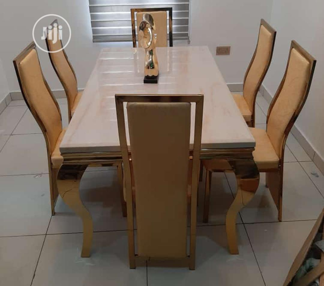 Gold Dining Table By6