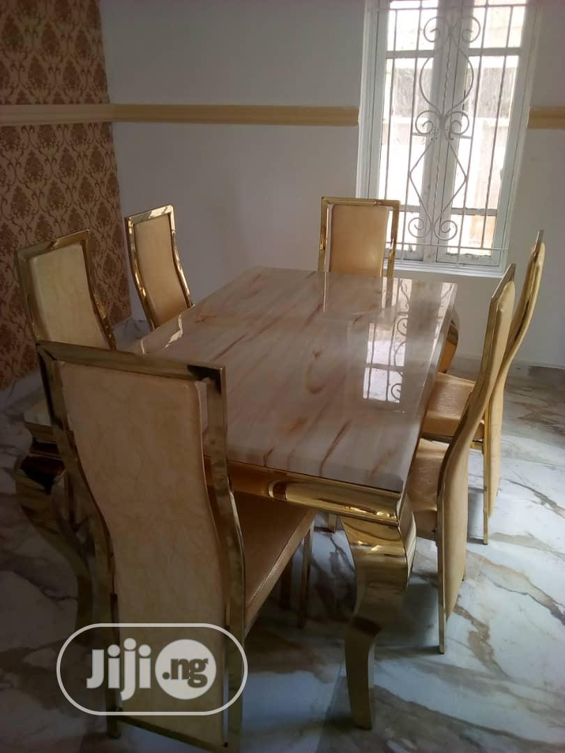 Gold Dining Table By6 | Furniture for sale in Lagos Island (Eko), Lagos State, Nigeria