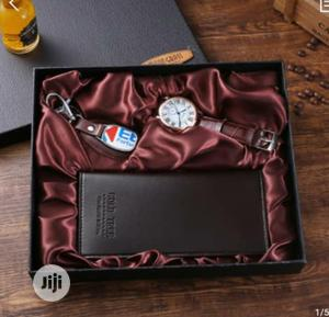 Moon Grass Classic Wrist Watch With Wallet And Key Holder   Watches for sale in Lagos State, Ipaja