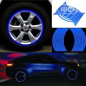 18 Strips Motorcycle Car Wheel Tire Stickers Reflective Rim Tape Blue   Vehicle Parts & Accessories for sale in Lagos State, Ikeja