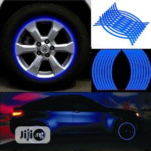 18 Strips Car Wheel Tire Stickers Reflective Rim Tape   Vehicle Parts & Accessories for sale in Lagos State, Surulere