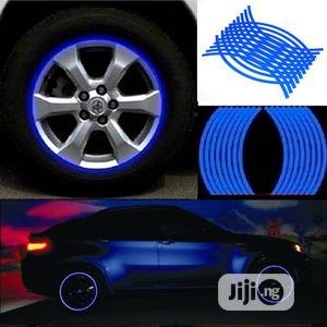 18pcs Strips Reflective Motocross Bike Motorcycle Wheel Stickers   Vehicle Parts & Accessories for sale in Lagos State, Ikoyi
