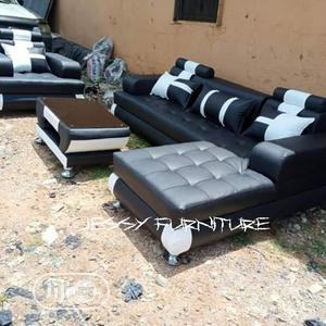 New Set of L-Shaped Sofa With One Single and a Center Table | Furniture for sale in Lagos State, Ajah