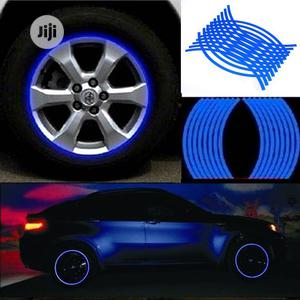 Blue Strips Wheel Reflective Rim Tape Stickers - 18PCS   Vehicle Parts & Accessories for sale in Lagos State, Lagos Island (Eko)