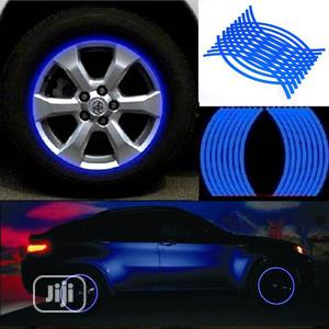 Blue - 18 Strips Motorcycle Car Wheel Tire Stickers   Vehicle Parts & Accessories for sale in Lagos State, Maryland