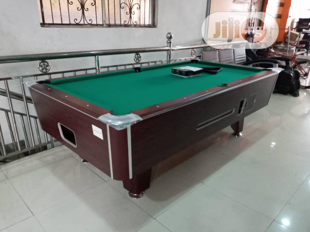 Marble and Coin Operated Snooker Board