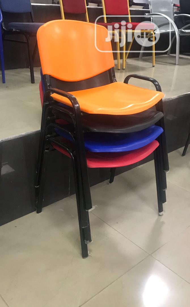 Plastic Four Leg Chair Available In Four Colors
