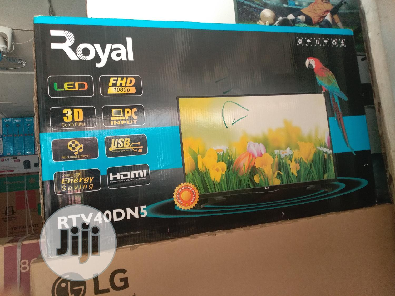 Royal Television 40inches Led Tv Wirh 3d Combo Filter.