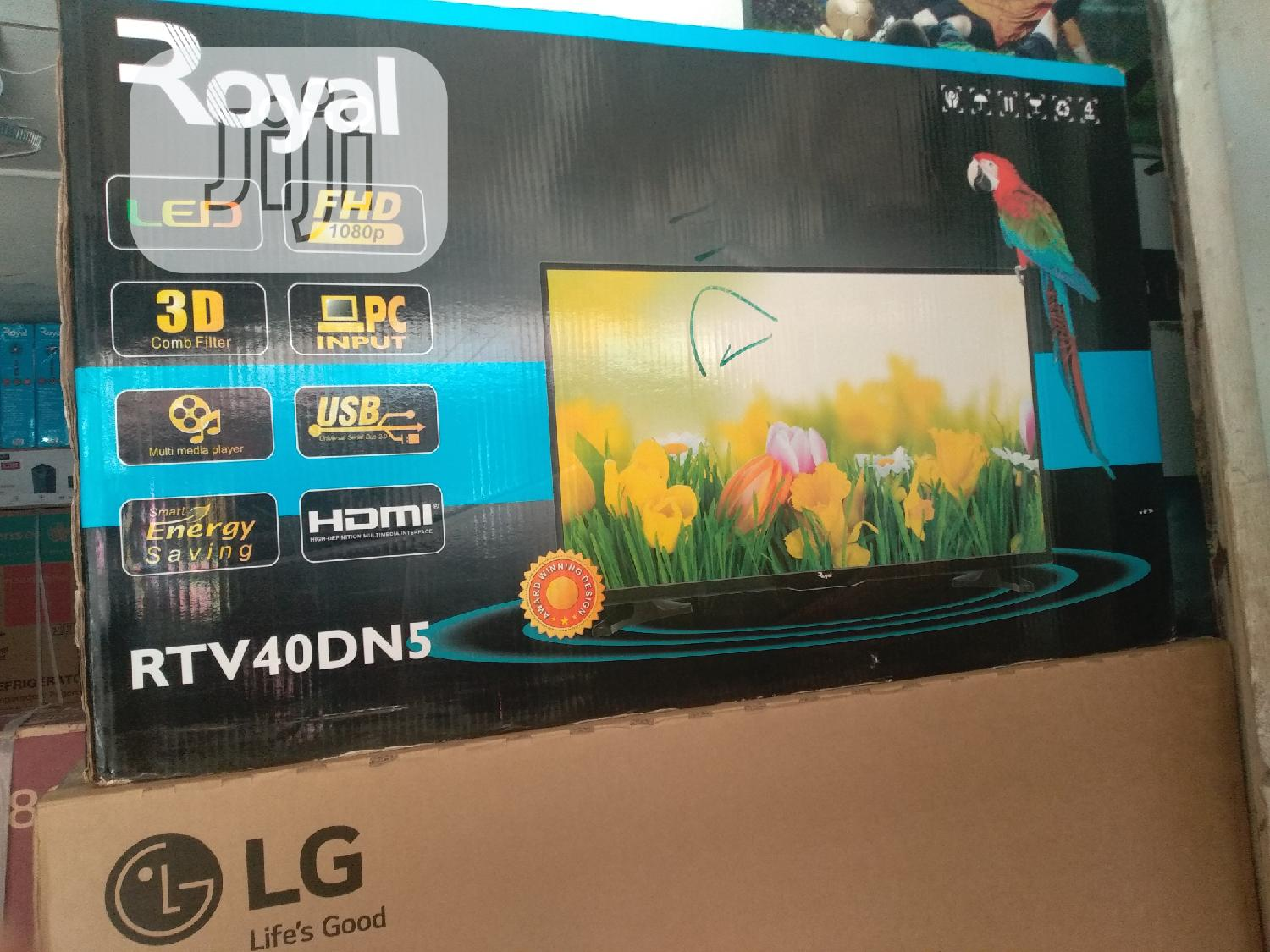 Royal Television 40inches Led Tv Wirh 3d Combo Filter. | TV & DVD Equipment for sale in Wuse, Abuja (FCT) State, Nigeria