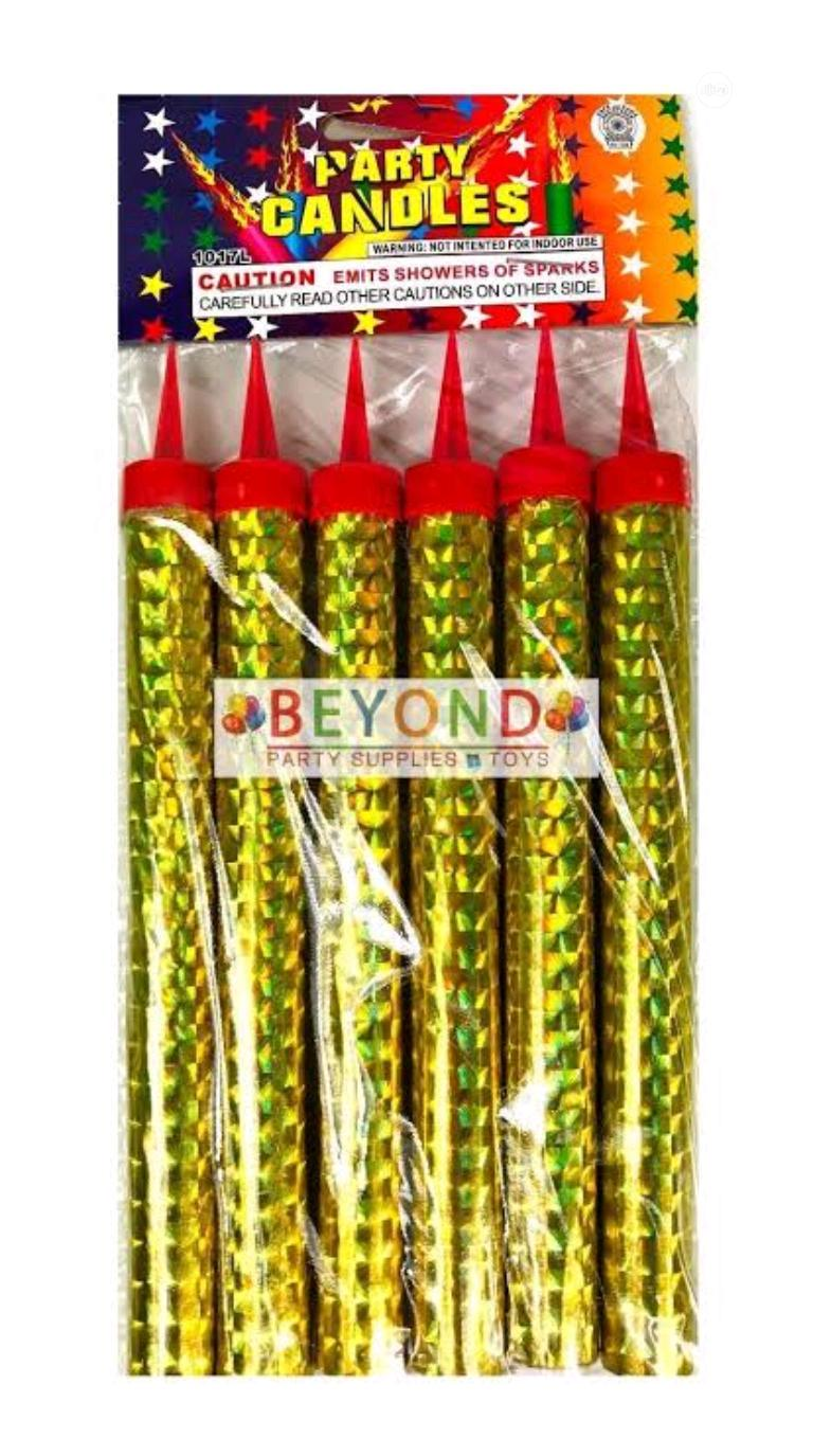 5 Pieces Fire Spark Candle 10CM For Birthday Party Celebrations Firewo