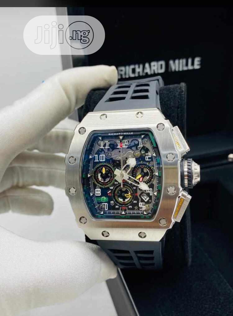 Top Quality Richard Mille Rubber Strap | Watches for sale in Magodo, Lagos State, Nigeria