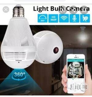 Bulb Light Wireless IP Camera Wi-fi Fisheye | Security & Surveillance for sale in Lagos State, Ikeja