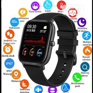 New Smart Watch Fitness Tracker Full Touch Ipx7 Waterproof | Smart Watches & Trackers for sale in Lagos State, Ikeja