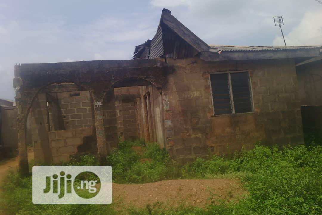 Half Plot Of Land With Structure For Sale