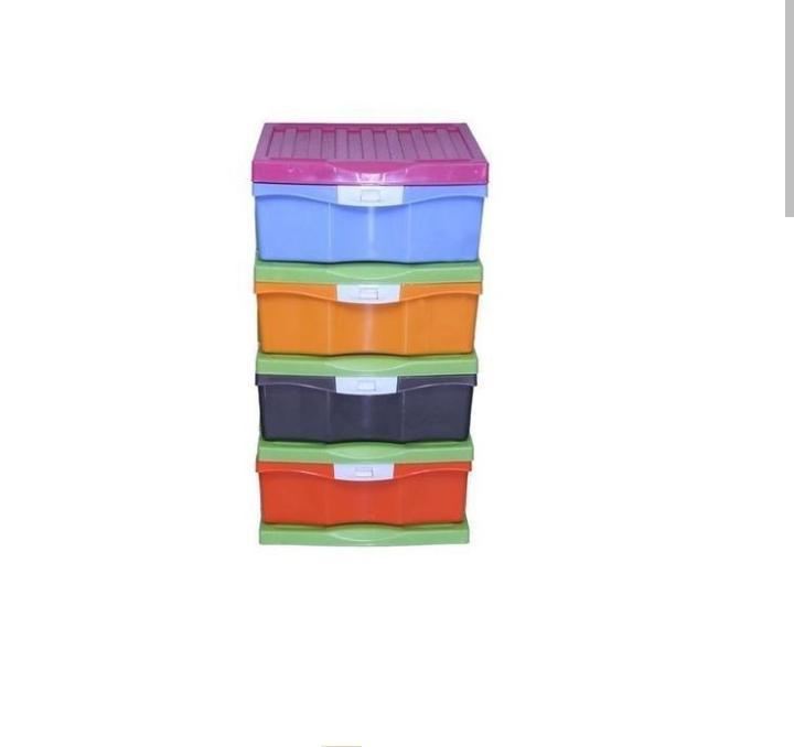 Colorful 4 Steps Plastic Quality Baby Wardrobe