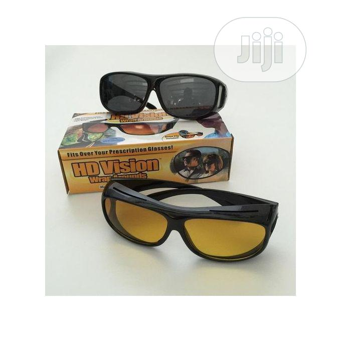 2 in 1 Night Vision Driving Glasses Goggles | Clothing Accessories for sale in Lagos Island, Lagos State, Nigeria