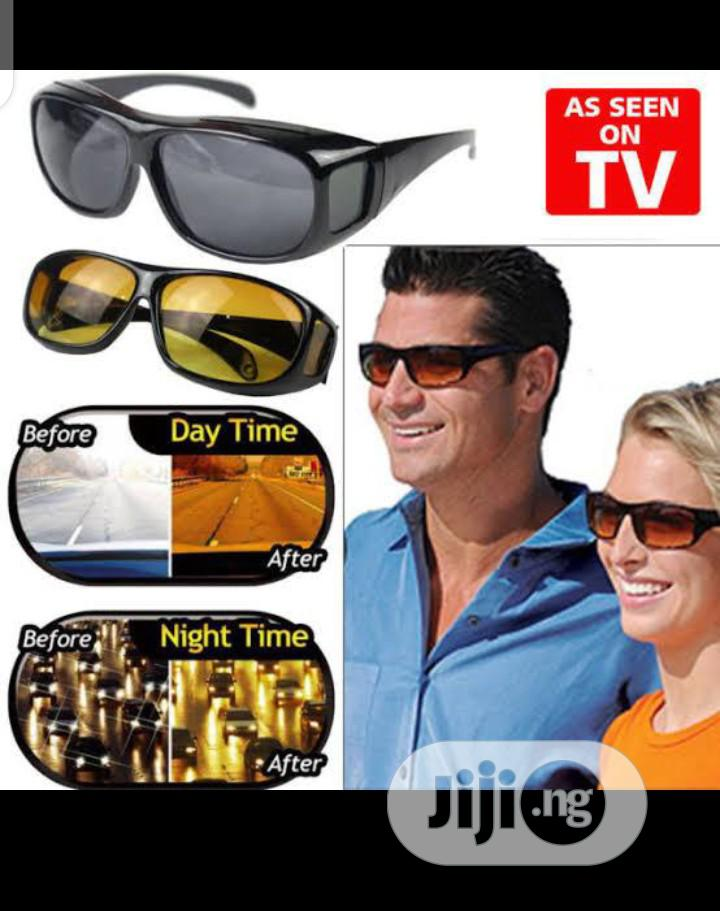 2 in 1 Night Vision Driving Glasses Goggles