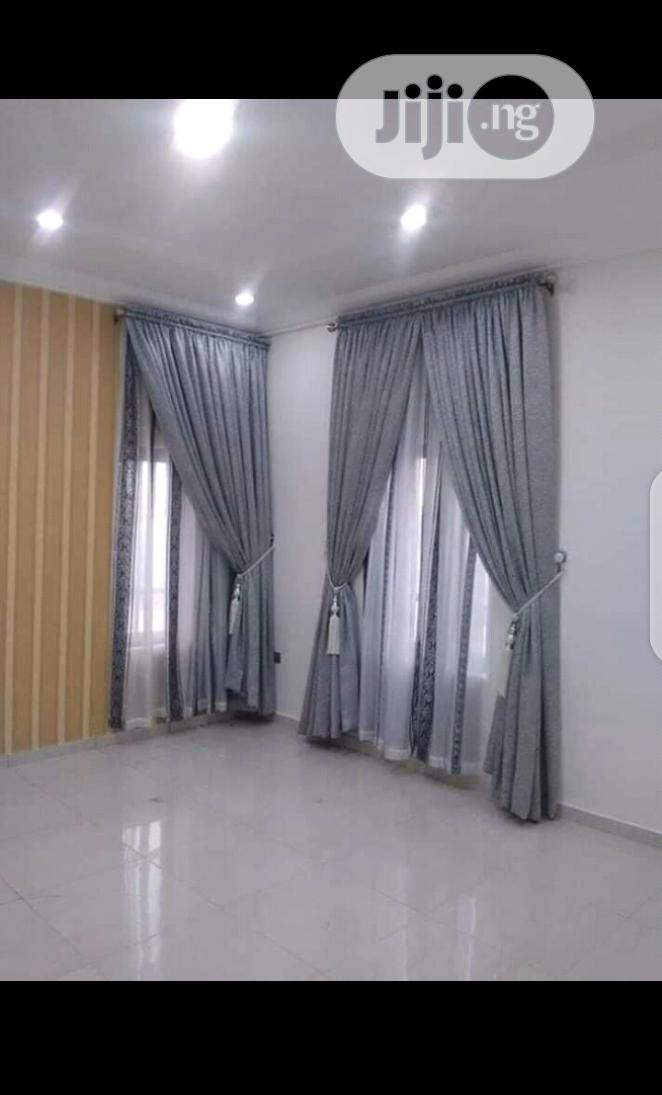 Nice Grey Curtains For Your Living Room In Yaba Home Accessories Blessedvitus Home And Interior Bedsheet Duvet Curtain Blind Wallpaper Jiji Ng