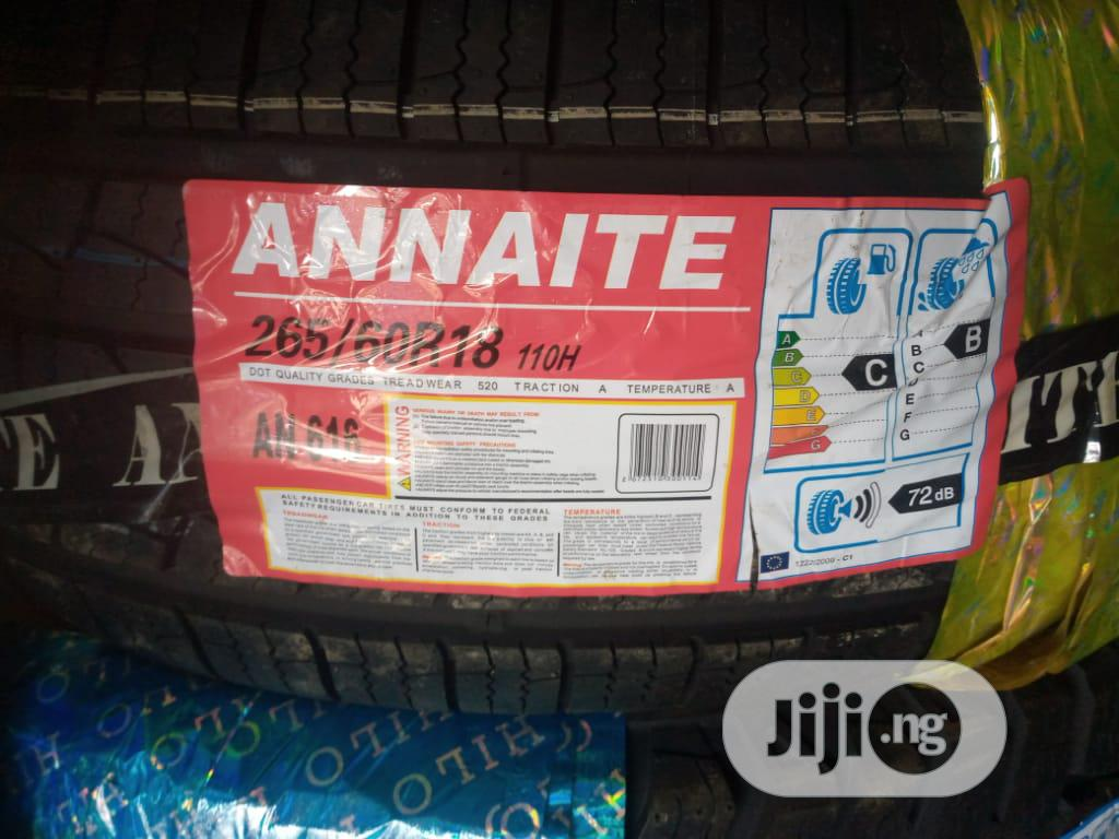 265/ 60R18 Brand New Tyre Size