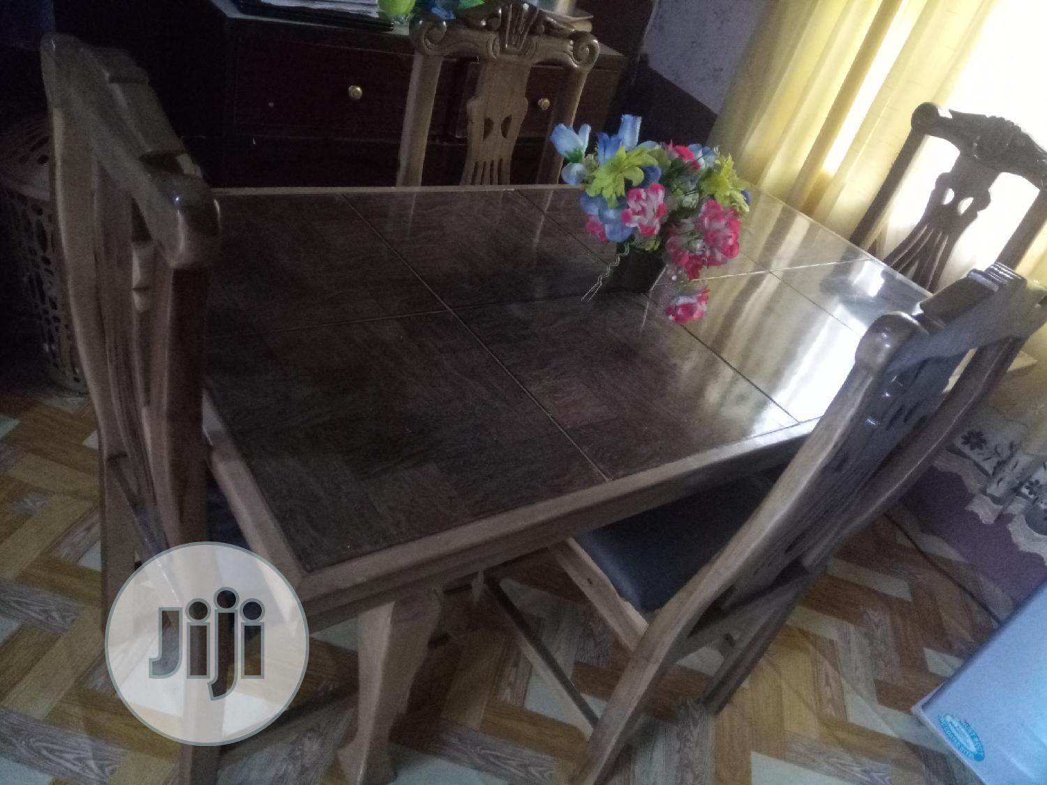 A Newly Made Mable Top Dining Table