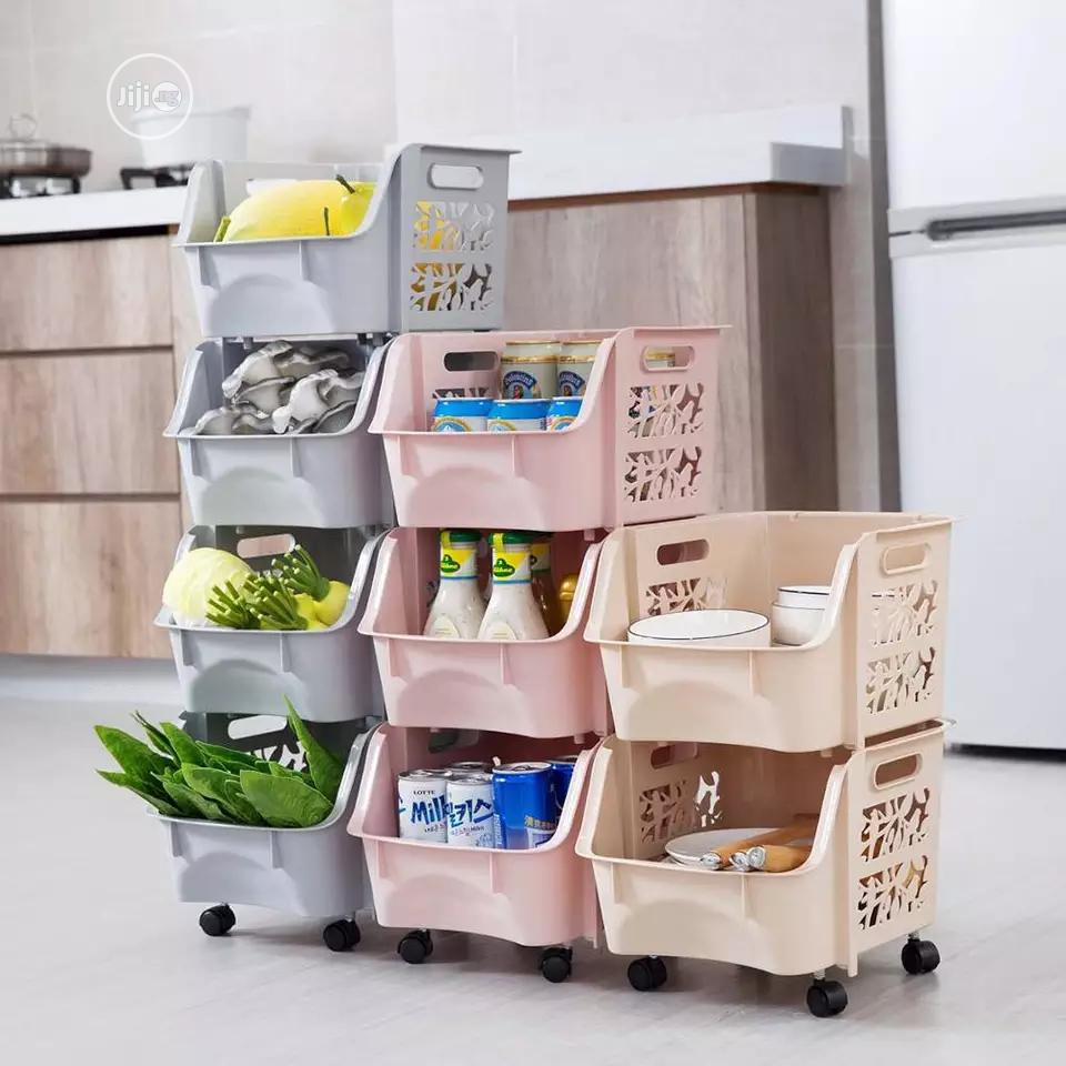 3 Tier Multifunctional Storage Trolley/Rack/Organizer
