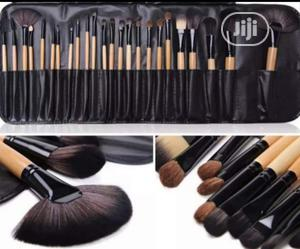 24pcs Makeup Brushes Tools Makeup Brush Set + Leather Pouch | Makeup for sale in Lagos State, Ikeja