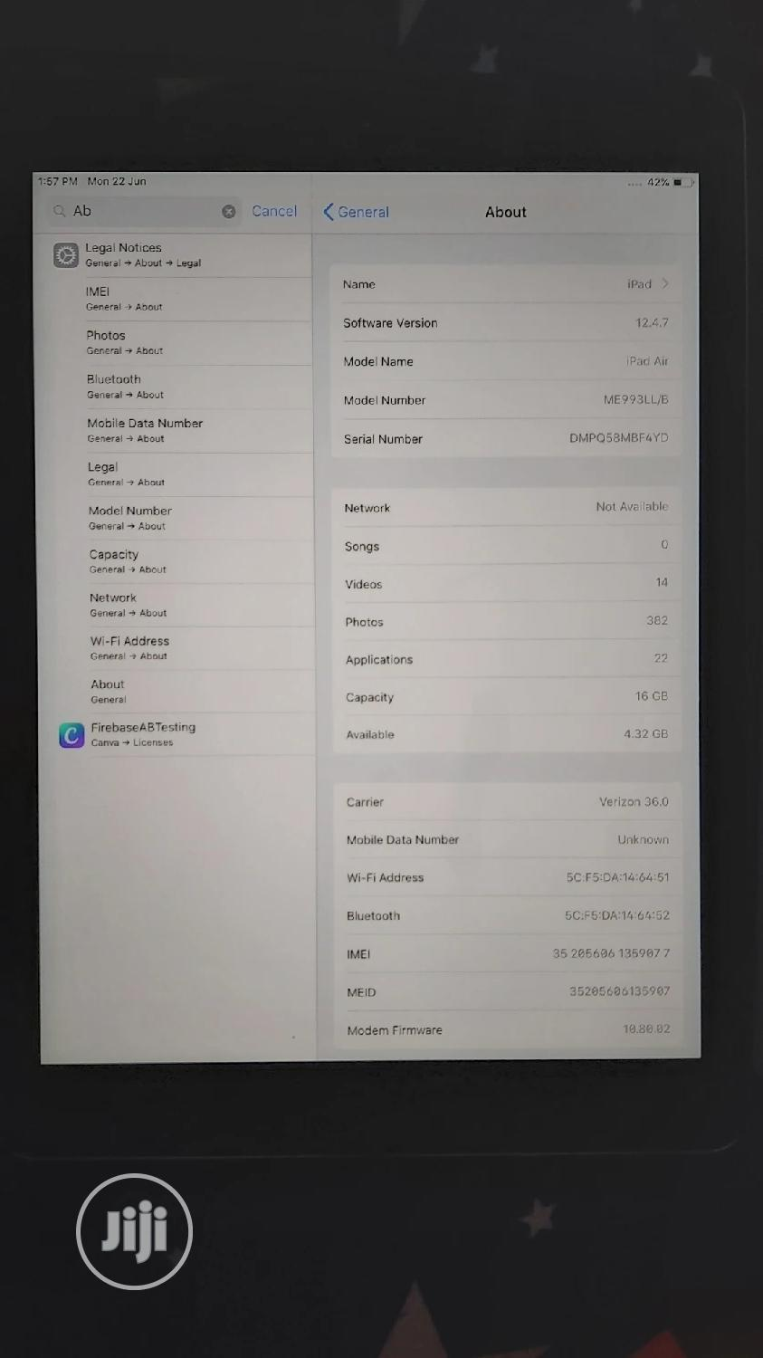 Apple iPad Air 16 GB Silver | Tablets for sale in Magodo, Lagos State, Nigeria