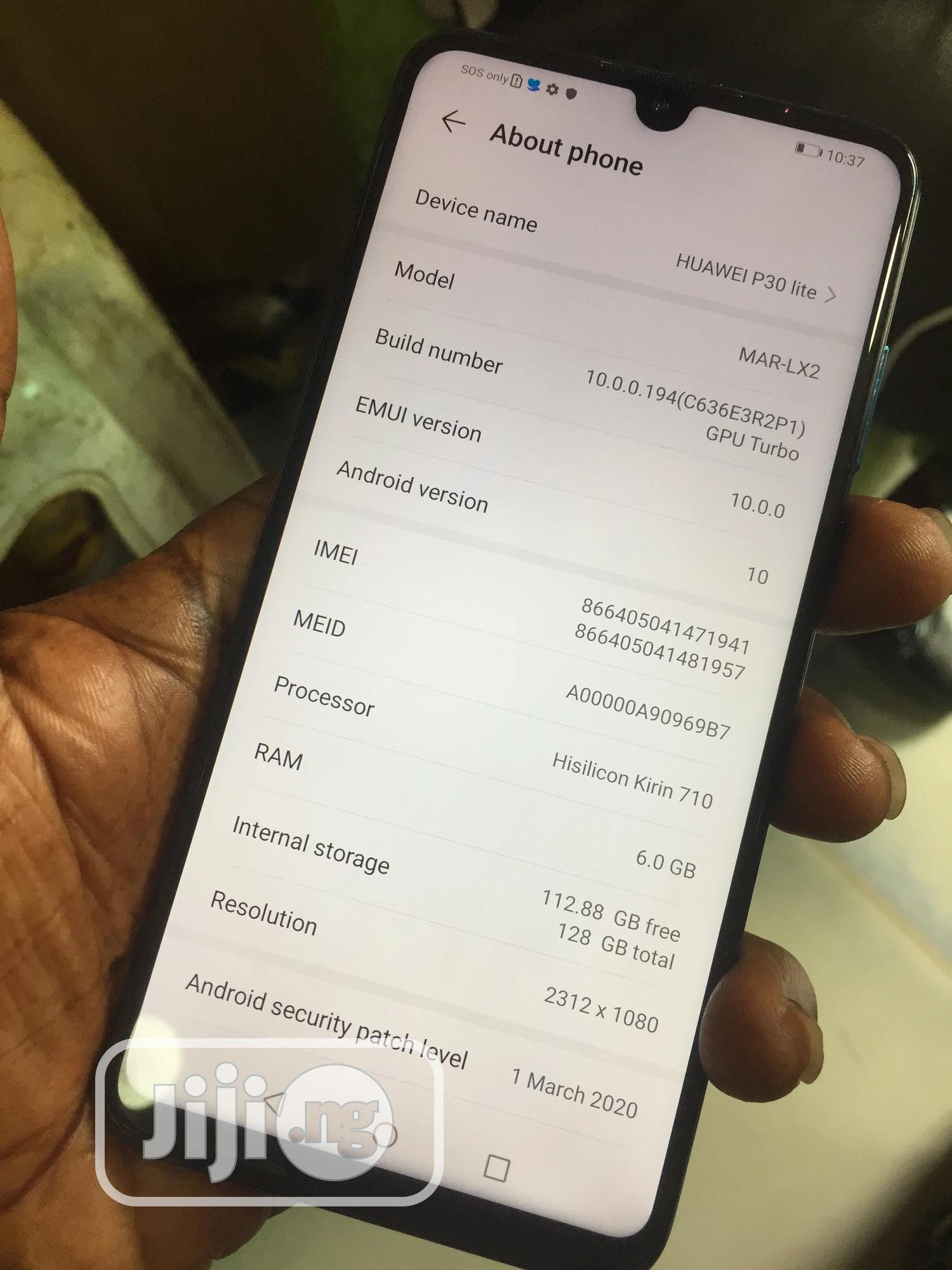 Huawei P30 Lite 128 GB Blue | Mobile Phones for sale in Ikeja, Lagos State, Nigeria