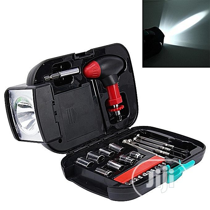Portable Tool Box Set With Flashlight -T Type
