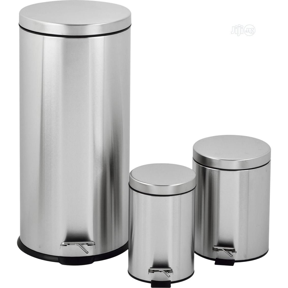 Stainless Steel Step Bin-30 Litres