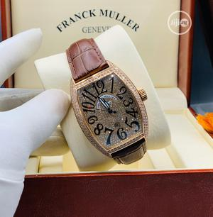 Franck Muller Automatic Full Ice Rose Gold Leather Strap Watch | Watches for sale in Lagos State, Lagos Island (Eko)