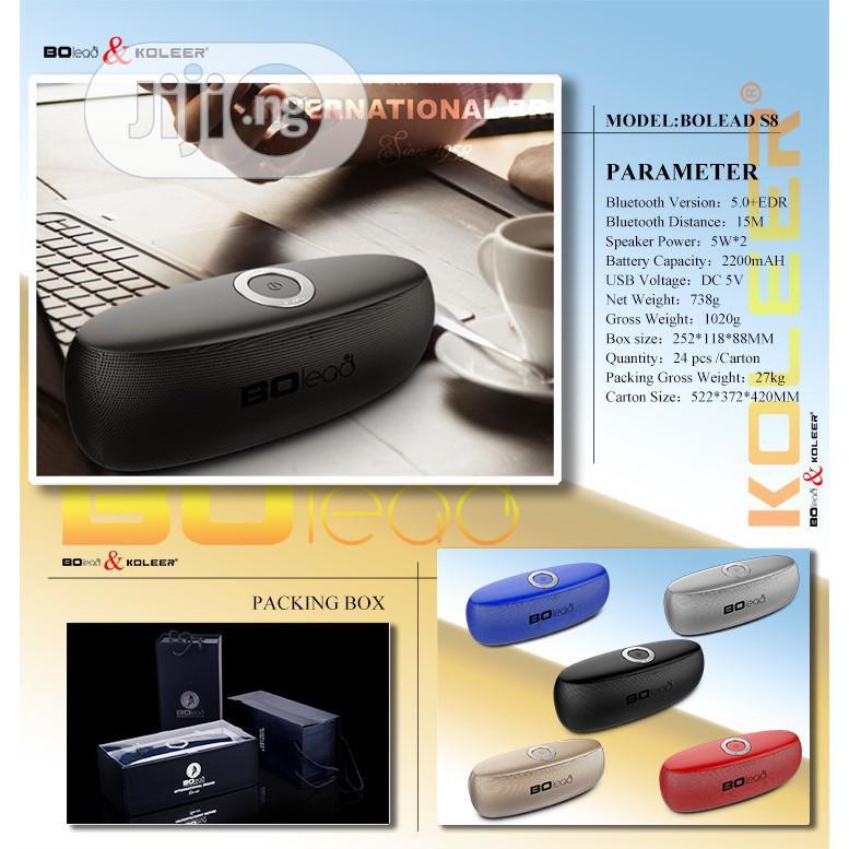 Bolead Portable Subwoofer Bleutooth Speaker S8