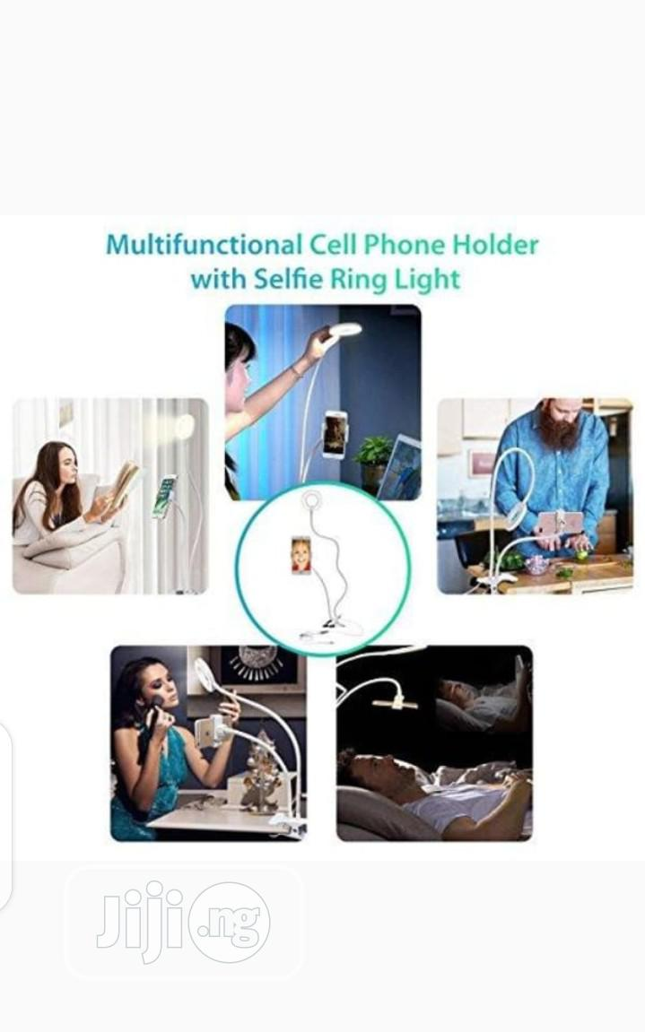 Phone Holder With Ring Light For Selfie/Livestream/Makeup.   Accessories & Supplies for Electronics for sale in Oshodi, Lagos State, Nigeria