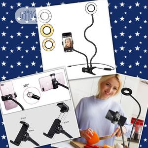 Cell Phone Holder & Ring Light For Seifie/Livestream/Makeup.   Accessories & Supplies for Electronics for sale in Lagos State, Ikeja