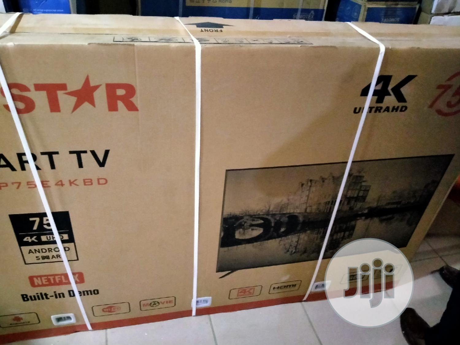 Polystar 75 Inches Smart Television Pv-Jp75e4kbd | TV & DVD Equipment for sale in Wuse, Abuja (FCT) State, Nigeria