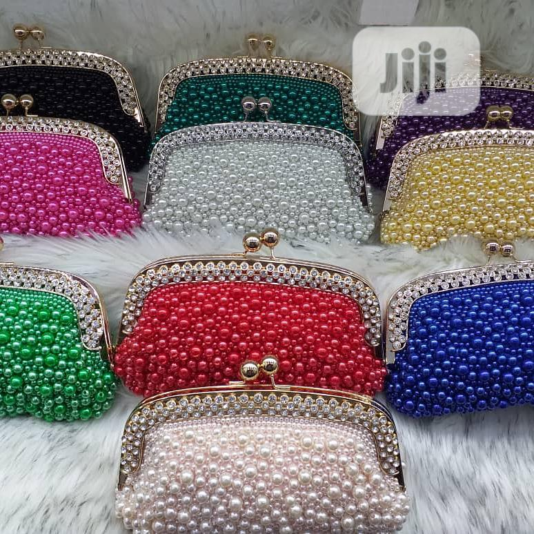 Lovely Beaded/Pearl Clutch Purse
