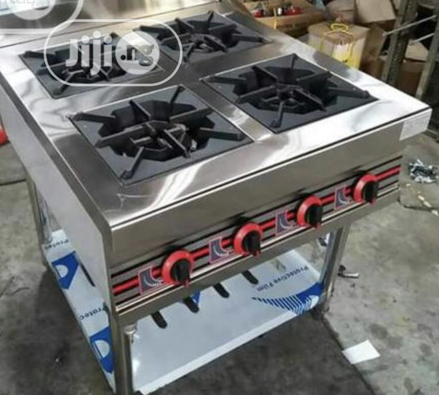 4 Burners Industrial Gas Cooker